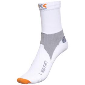 X-Socks Run Fast juoksusukat Mid , valkoinen